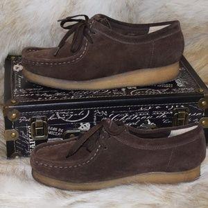 CLARKS ORIGINALS WALLABEE Dark Brown Suede Leather